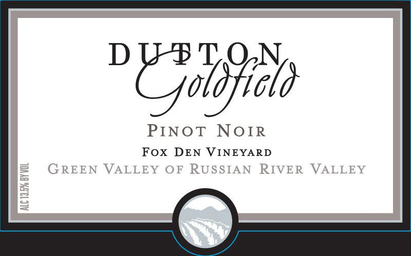 Dutton Goldfield - Pinot Noir - Fox Den Vineyard label