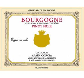 Collection Alain Corcia - Bourgogne - Pinot Noir label
