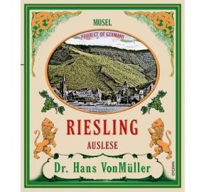 Dr. Hans VonMuller - Riesling Auslese label