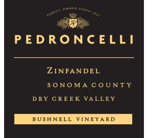 Pedroncelli - Zinfandel - Bushnell Vineyard label