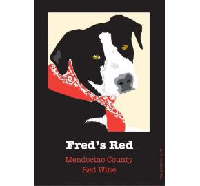 Fred's Red - Mendocino County label