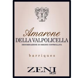 Zeni - Barriques Amarone label