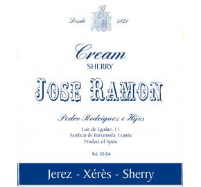 Pedro Rodriguez E Hijos - Jose Ramon - Cream Sherry label